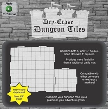 Dry Erase Dungeon Tiles Graystone Square Mixed Pack 16x5 5x10