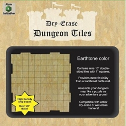 "Dry Erase Dungeon Tiles: Earthstone 10"" Square - 9 pack"