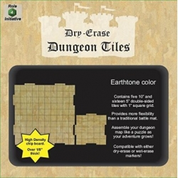 "Dry Erase Dungeon Tiles: Earthstone Square Mixed Pack - 16x5"" 5x10"""