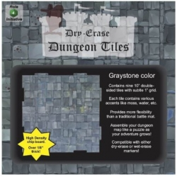 "Dry Erase Dungeon Tiles: Graystone 10"" Square - 9 pack"