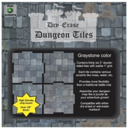 "Dry Erase Dungeon Tiles: Graystone 5"" Square - 36 pack"