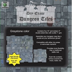 "Dry Erase Dungeon Tiles: Graystone Square Mixed Pack - 16x5"" 5x10"""