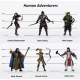 Human Adventurers Party of 6: Set A