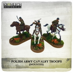 Polish Army Cavalry Troops on Horses