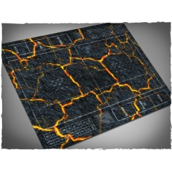 Fantasy Football Field, Inferno Theme Mousepad Games Mat