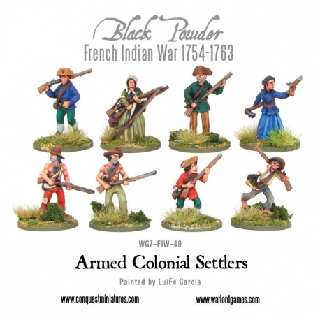 French Indian War: Armed Colonial Settlers