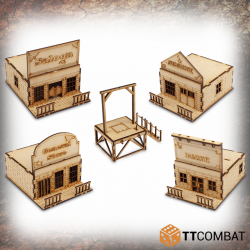 Town Buildings & Gallows Set