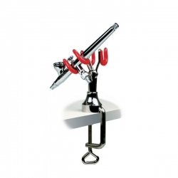 Duel Airbrush Stand with Table Edge Clamping
