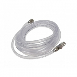 Airbrush Clear Hose 1/8bsp - Quick Release Coupling with Air Flow Control