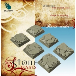 25 mm Square Stone Bases