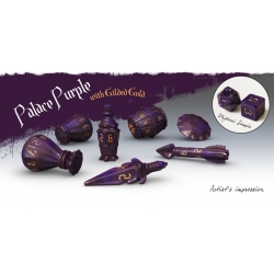 PolyHero Rogue Dice Set - Palace Purple