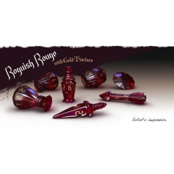 PolyHero Rogue Dice Set - Roguish Rouge