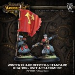 Winterguard Officer and Standard