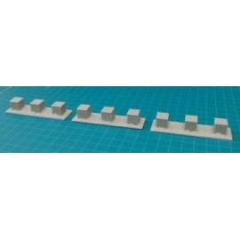 15mm British WWII Anti Tank Obstacles (Blocks - Straight)
