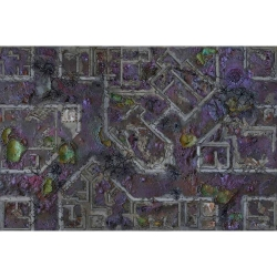 Corrupted Warzone City 6x4 Gaming Mat