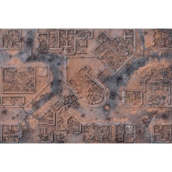 Desert Warzone City 6x4 Gaming Mat