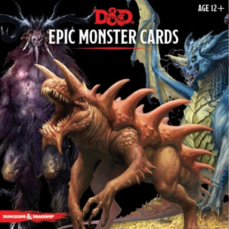 D&D 5th Monster Cards Epic Monsters