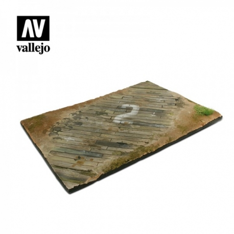 Vallejo Scenics - 1:48 Wooden Airfield Section 31cm x 21cm