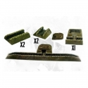 Trench Set (5 Resin Trench pieces inc Bomb Proof Shelter)