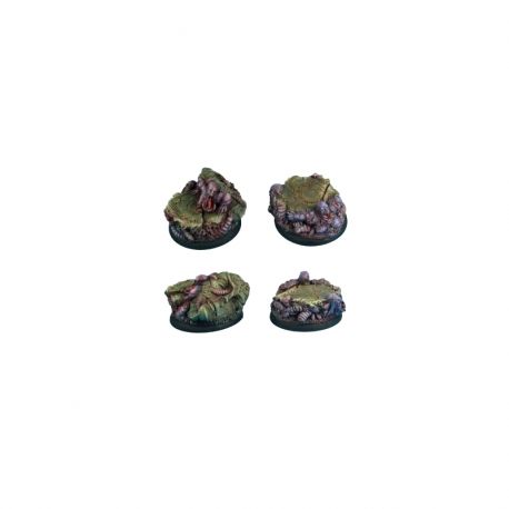 Rot and Grubs 40 mm round edge bases set 1