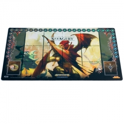 Death v Destruction Playmat - Savagery Mat - Crypt Flayer