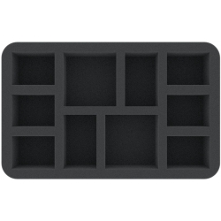 Feldherr 50mm Foam Tray for Warcry - 10 Miniatures