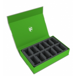 Feldherr Magnetic Box Green for 12 GW Miniatures with 40mm Base
