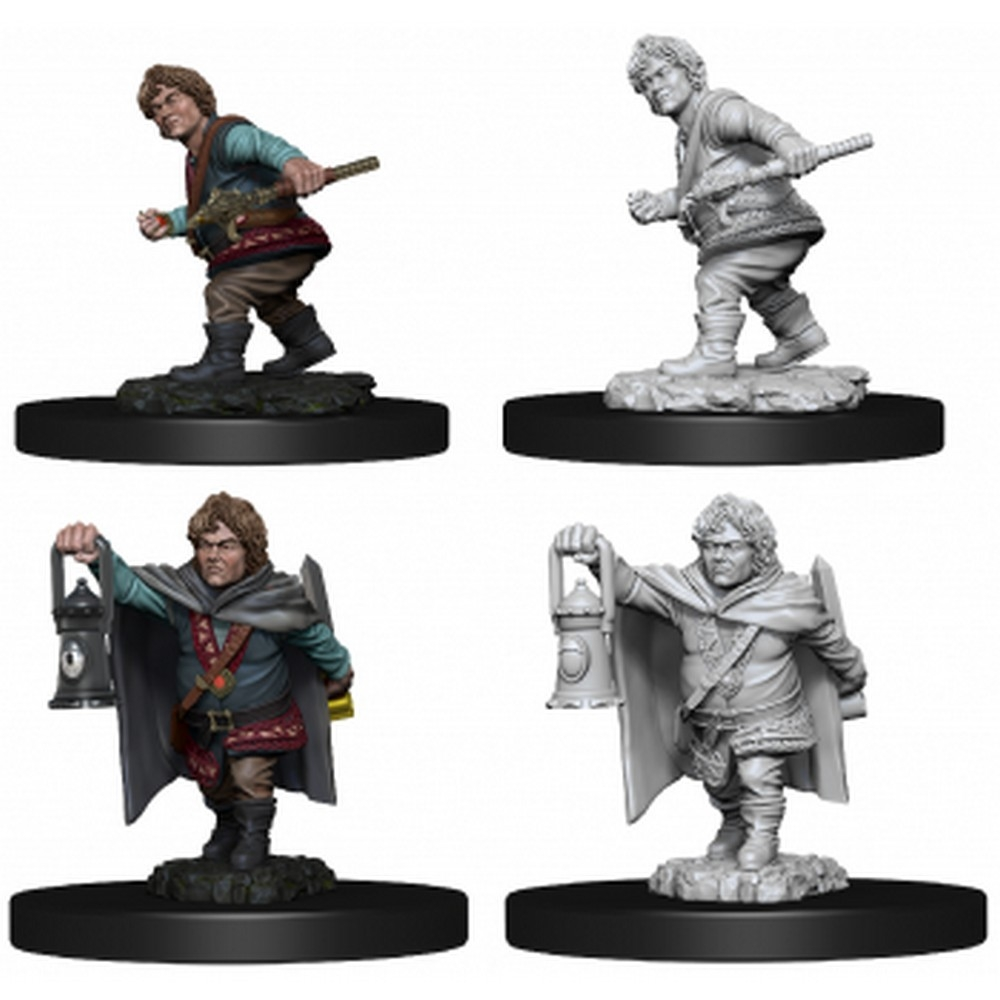 Male Halfling Rogue Wizkids Unpainted Miniatures Character concept for 5th edition dungeons & dragons player's handbook. male halfling rogue wizkids unpainted miniatures