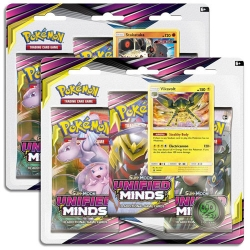 Pokemon TCG Sun & Moon: Unified Minds Blister 3-Pack Display