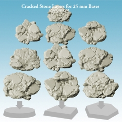 Cracked Stone Layers for 25mm Bases