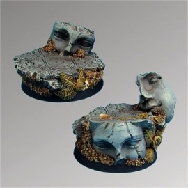 Ancient Ruins 40 mm round bases set 2 (2)