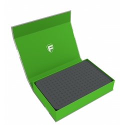 Feldherr Magnetic Box Green with 40mm Pick and Pluck Foam for Custom Projects
