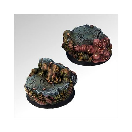 Rot and Grubs 40 mm round bases set1 (2)