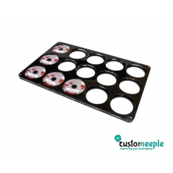 X-Wing Compatible Dial Tray (Feldherr Compatible) - Black Acrylic + Lid