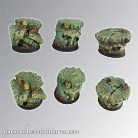 Spartan Ruins 25 mm round bases set 1