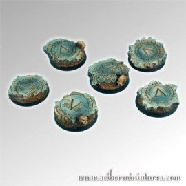 Spartan Ruins 25mm round bases set 3