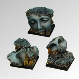 Ancient Ruins 25 mm square bases (3)