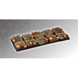 Squalid Ground Square Bases 20mm (5)