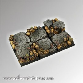 Squalid Ground Square Bases 25mm (5)