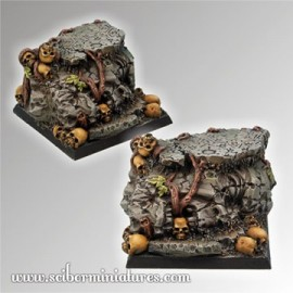 Squalid Ground Square Base 40mm