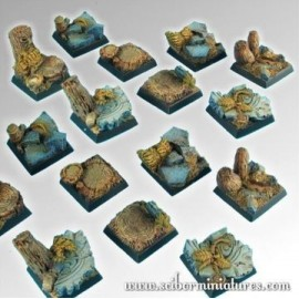 Forest 20mm Square Bases