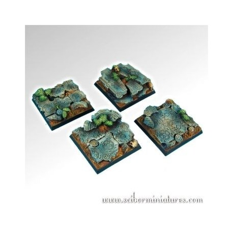 Ruins 40mm Square Bases