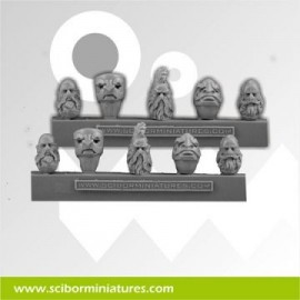 Dwarf Stam Guard Heads and Helmets
