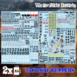 Waterslide Decals - Tactical Numerals and Pinups
