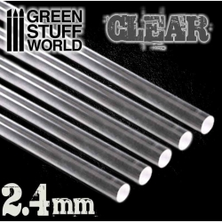 Acrylic Rods - Round 2.4mm Clear