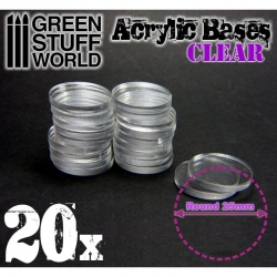 Acrylic Bases - Round 25mm Clear