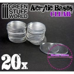 Acrylic Bases - Round 32mm Clear