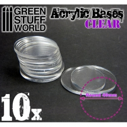 Acrylic Bases - Round 40mm Clear