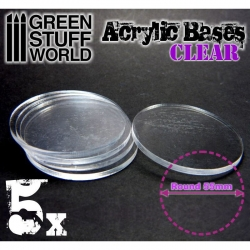 Acrylic Bases - Round 55mm Clear