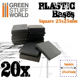 Plastic Square Bases 25x25mm